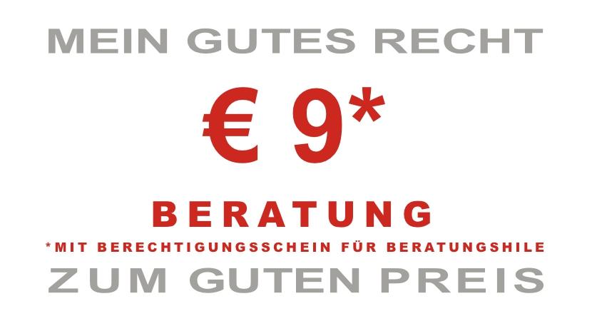 € 9* BERATUNG *MIT BERECHTIGUNGSSCHEIN FÜR BERATUNGSHILE