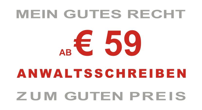 AB € 59 ANWALTSSCHREIBEN
