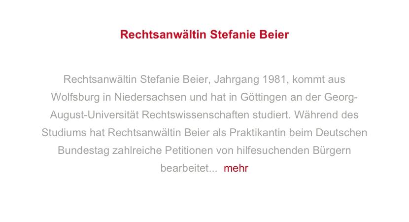 Rechtsanwältin Stefanie Beier