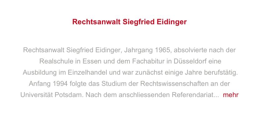 Rechtsanwalt Siegfried Eidinger