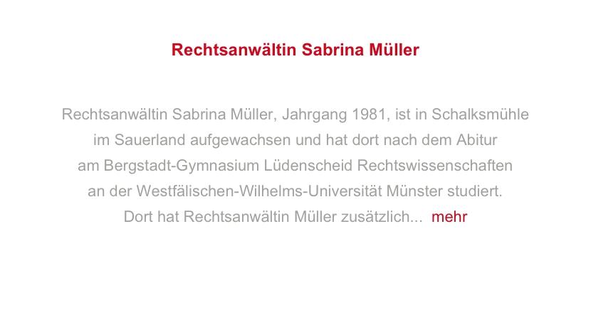 Rechtsanwältin Sabrina Scharpe