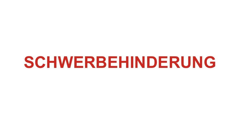 SCHWERBEHINDERUNG